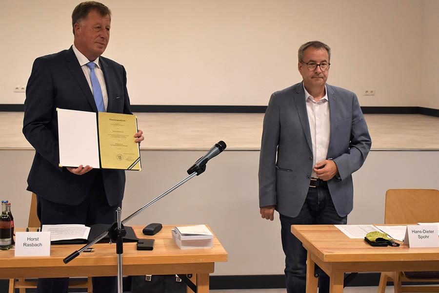 Horst Rasbach weitere acht Jahre Bürgermeister der VG Dierdorf