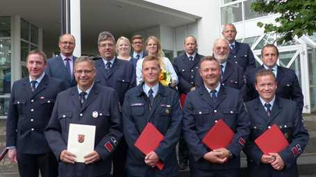 Bef�rderungen, Ehrungen und Bestellungen VG Feuerwehr Kirchen