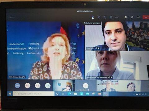 Videokonferenz mit Julia Klöckner: Der Wald im Mittelpunkt