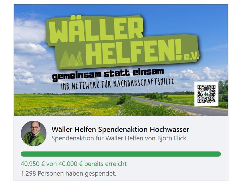 """Große Spendenbereitschaft: Verein """"Wäller helfen"""" sammelt für Hochwasseropfer"""
