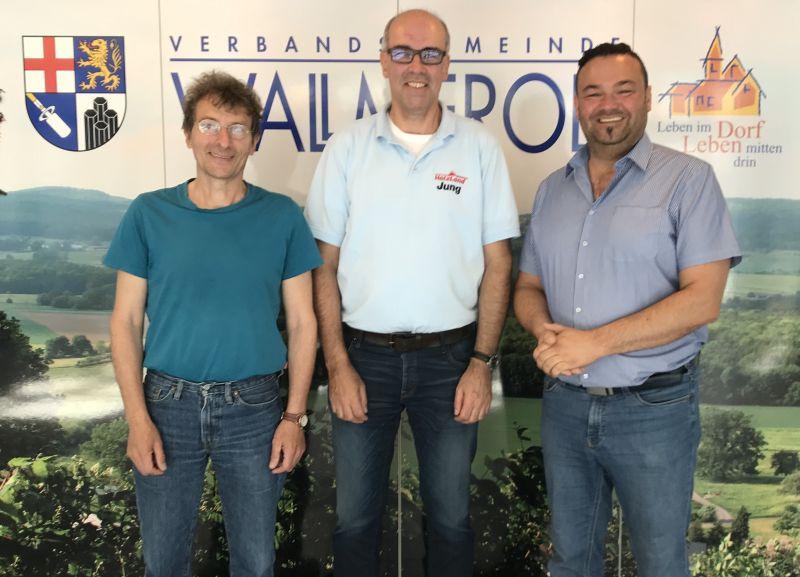V.l. Manfred Calmano (B´90/GRÜNE), Patrick Jung (FDP), Roland Weimer (CDU). Foto: privat, wurde vor den Corona-Beschränkungen aufgenommen