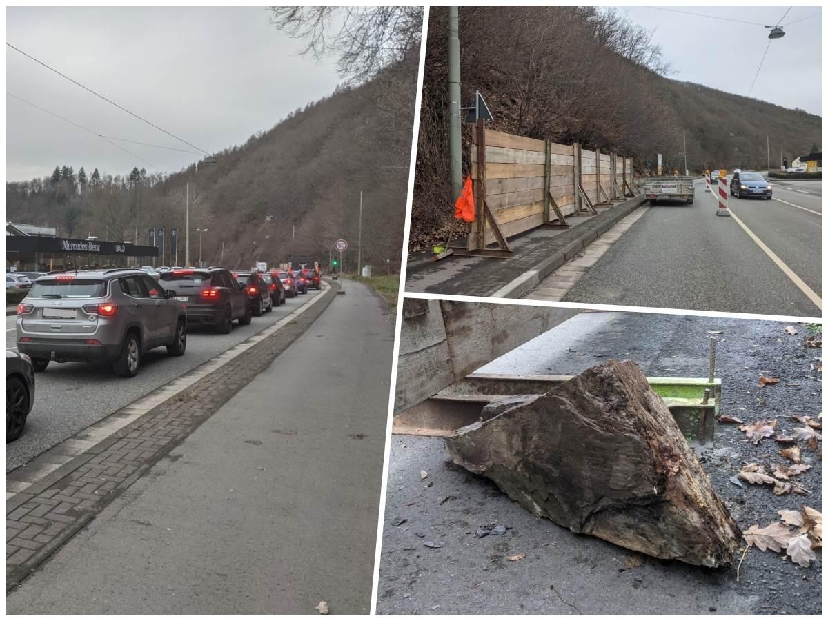 Verkehrsbehinderungen zwischen Betzdorf und Wallmenroth: Das ist der Grund für die einseitige Sperrung