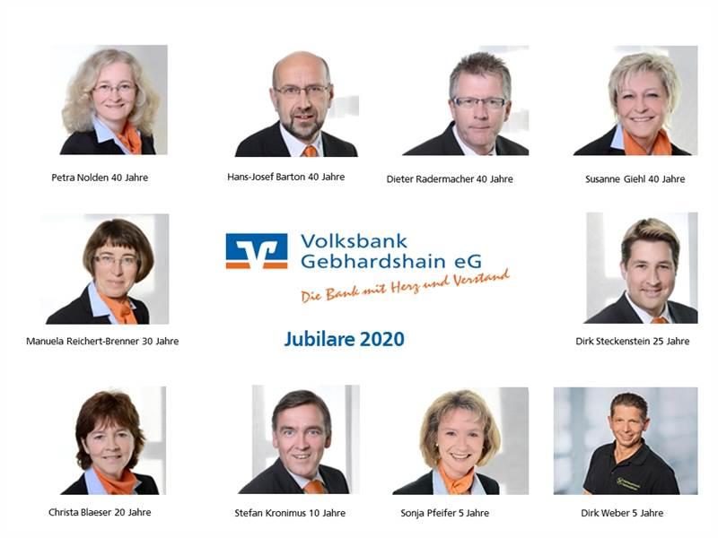 Volksbank Gebhardshain ehrt langjährige und verdiente Mitarbeiter