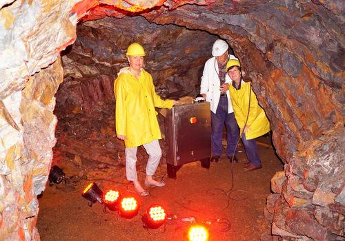 Besucherbergwerk Bindweide: Ab sofort wird gesprengt