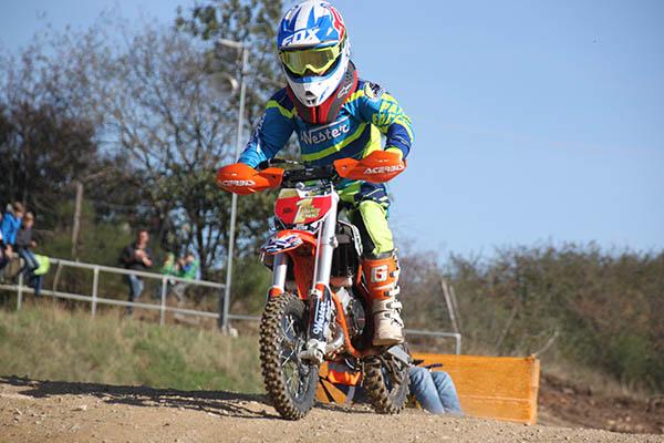 Bastian Wester ist Meister der Klasse 50ccm Mini im DAMCV