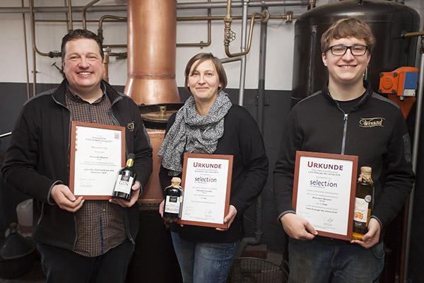 Brennerei Weyand aus Unnau überzeugte im Qualitätswettbewerb