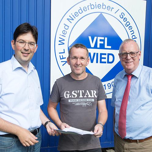 Erfreuliche Nachricht für den VfL Wied Nieberbieber-Segendorf