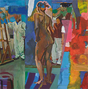 Gerhard Wienss, Atelier, 2006, Acryl, Foto: Robert Baniak
