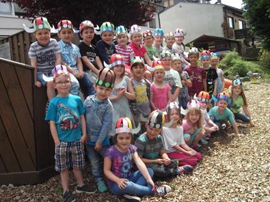 Angehende Schulkinder erlebten einen Wikingertag