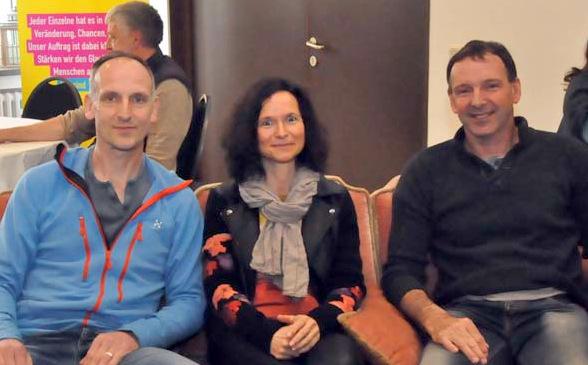 Diskussionsteilnehmer in Marienthal: (von links) Willi Faber, Anne Fuldner und Ralf Pauelsen. (Foto: kkö)