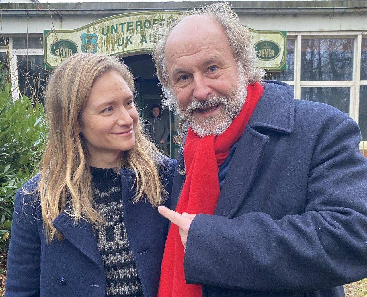 Klaus-Peter Wolf mit seiner Hauptdarstellerin Julia Jentsch. Foto: Bettina Göschl