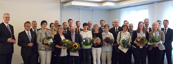 Westerwald Bank ehrte langj�hrige und verdiente Mitarbeiter