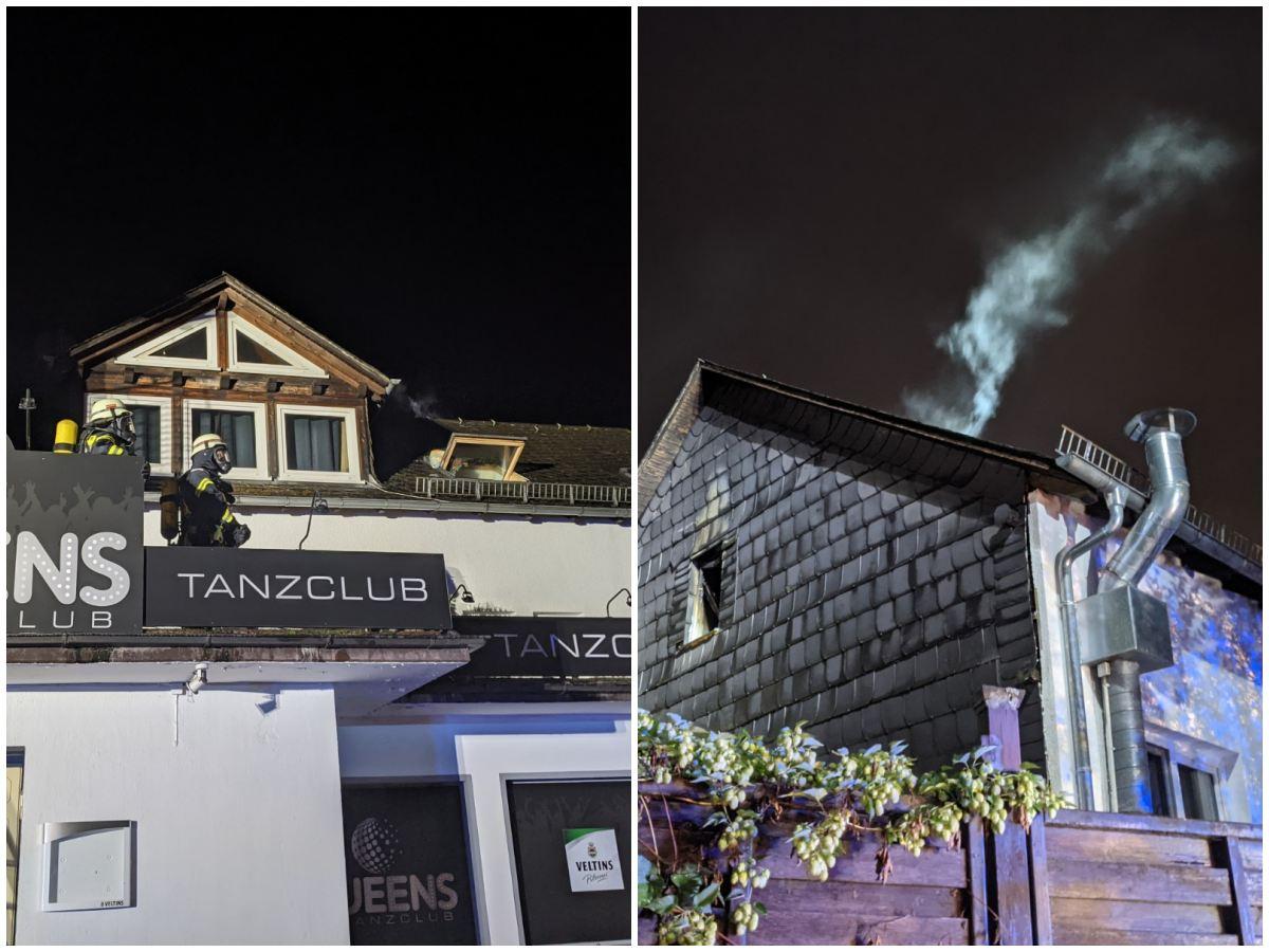 Zimmerbrand über Tanzclub in Herdorf