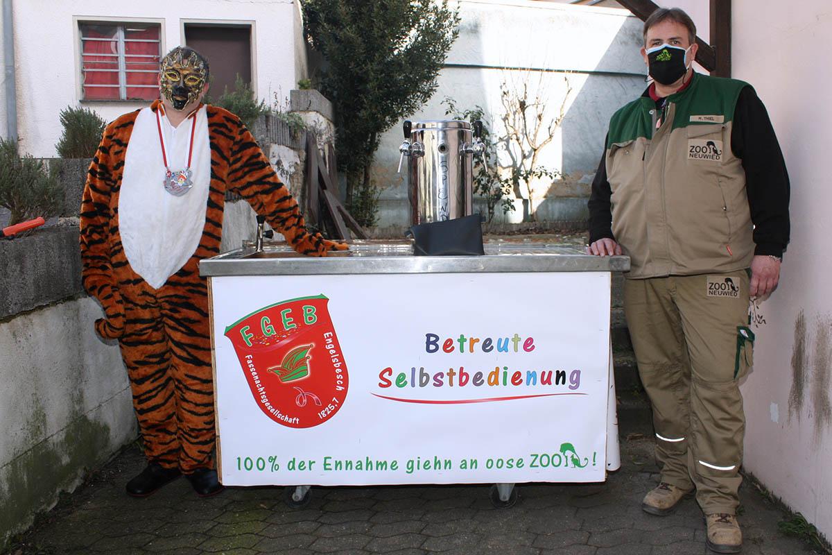 Tiger, Giraffe und Einhorn haben Spenden für Zoo gesammelt